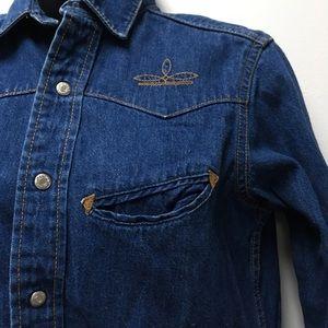 Ralph Lauren Western wear denim shirt size 10